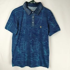 Dark Fish Brand Mens Water Ripple Polo Size XL Den